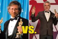 Steven Spielberg and Alfonso Cuaron at the Oscars