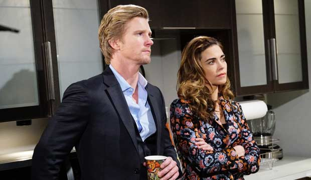 Thad Luckinbill and Amelia Heinle on The Young and the Restless