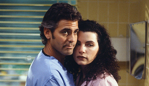 George Clooney and Julianna Margulies, ER