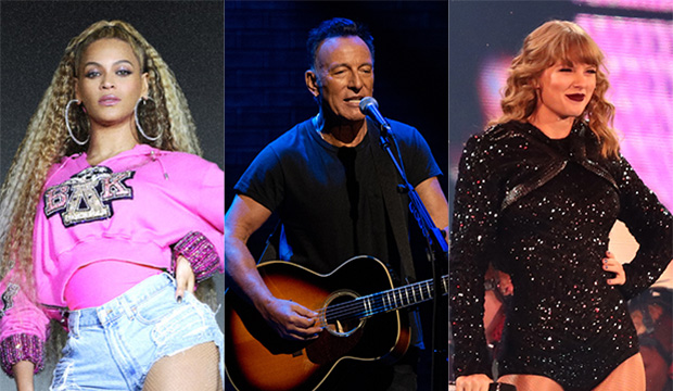 "Beyonce, ""Homecoming""; Bruce Springsteen, ""Springsteen on Broadway""; Taylor Swift, ""Reputation"""