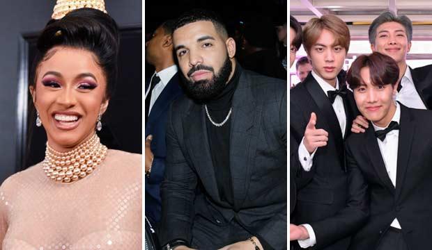 Billboard Music Awards Predictions 2019: Cardi B, Drake, BTS