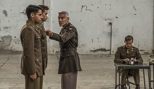 Christopher Abbott, Pico Alexander, George Clooney and Lewis Pullman, Catch-22