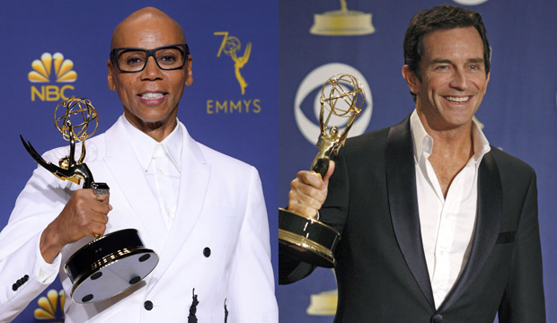 Tuck yeah! RuPaul Charles ('Drag Race') just tied Jeff Probst's Emmy record for Best Reality Host