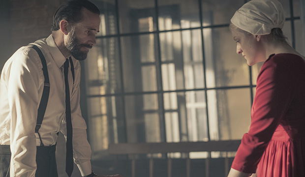 Joseph Fiennes and Elisabeth Moss, The Handmaid's Tale