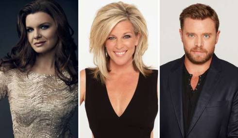 Heather Tom, Laura Wright and Billy Miller