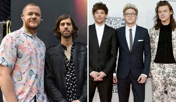 Imagine Dragons and One Direction