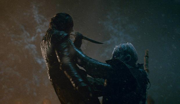 Maisie Williams and Vladimir Furdik, Game of Thrones
