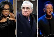 Oprah Winfrey, Martin Scorsese and Bruce Springsteen