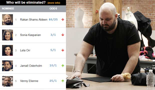 Will Rakan's stubbornness be his downfall on 'Project Runway'? Yes, according to our odds