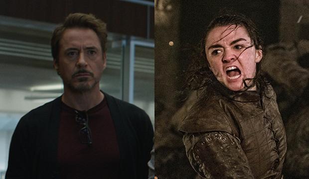 Robert Downey Jr., Avengers: Endgame; Maisie Williams, Game of Thrones