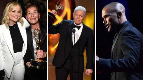 Amy Poehler, Judge Judy, Alex Trebek and Shemar Moore at Daytime Emmy 2019