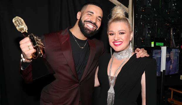Drake and Kelly Clarkson and the Billboard Music Awards 2019