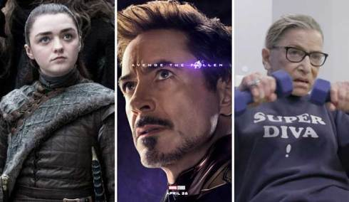 Game of Thrones, Avengers Endgame and RBG