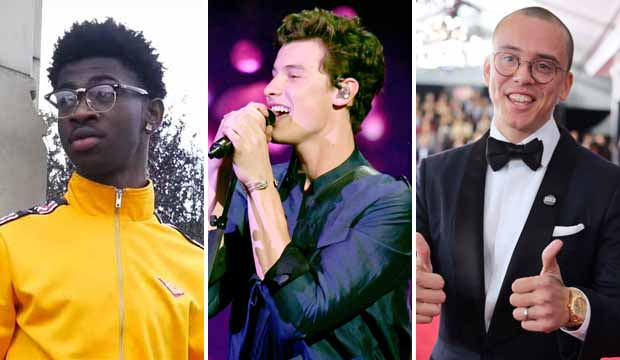 Lil Nas X, Shawn Mendes and Logic