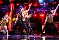 Derek Hough, Michael Dameski and Charity and Andres during World of Dance World Final