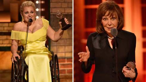 Ali Stroker and Elaine May at Tony Awards 2019