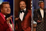James Corden, Danny Burstein and Andre De Shields at Tony Awards 2019