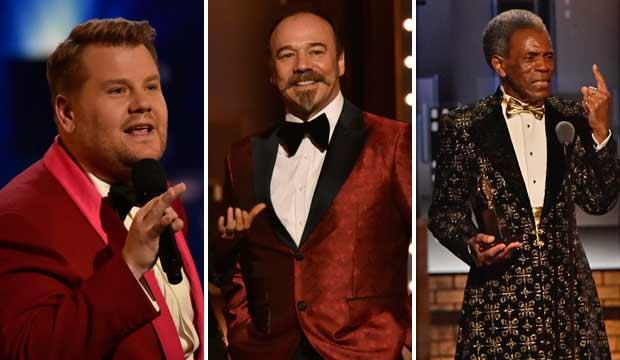 James Corden, Danny Burstein and Andre De Shields at Tony Awards 2019