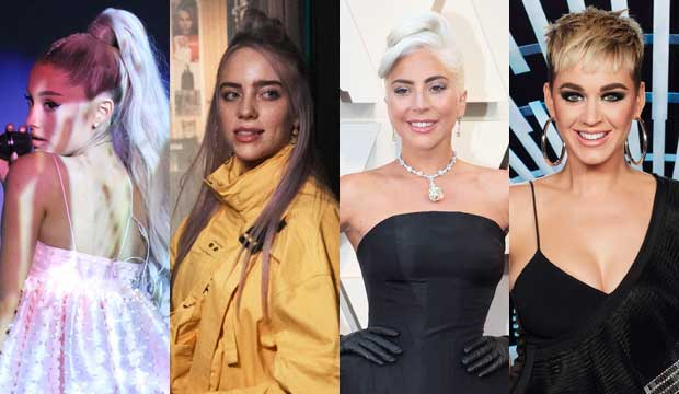 Ariana Grande, Billie Eilish, Lady Gaga and Katy Perry