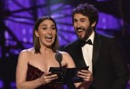 Sara Bareilles and Josh Groban at the Tony Awards