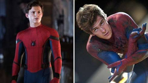 Tom Holland and Andrew Garfield as Spider Man