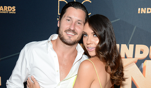 Watch as Jenna Johnson and Val Chmerkovskiy kinda, sorta reveal if they're returning to 'Dancing with the Stars'