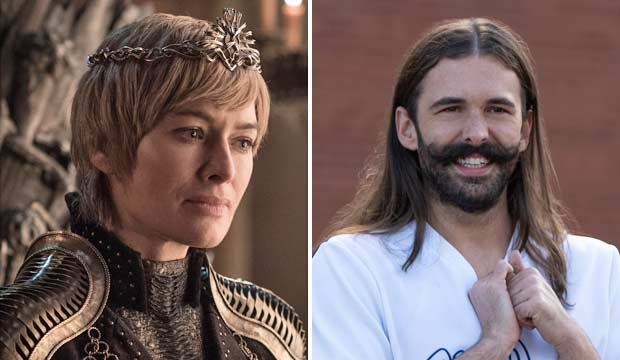 Lena Headey and Jonathan Van Ness