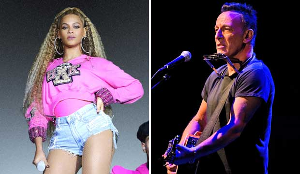 Beyonce and Bruce Springsteen