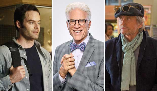 Bill Hader ('Barry') is the odds-on favorite to slay at the Emmys, unless Ted Danson or Michael Douglas bumps him off