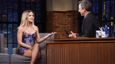 Maren Morris on Late Night with Seth Meyers