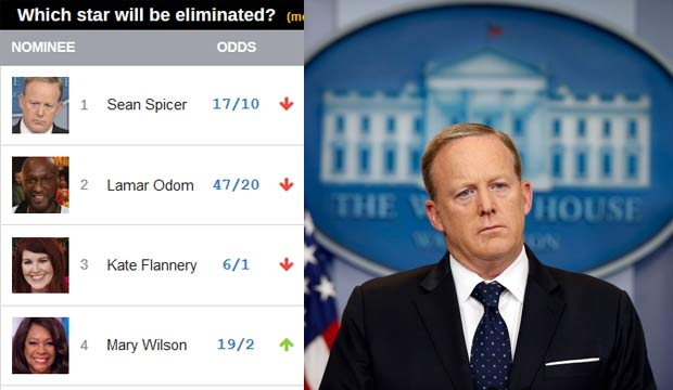 DWTS odds for Sean Spicer