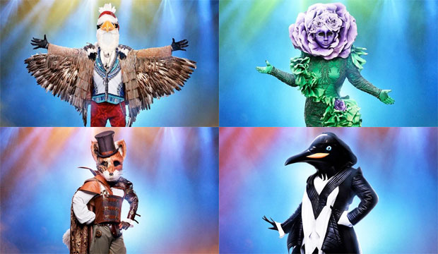 the-masked-singer-eagle-flower-fox-penguin