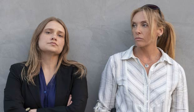 Merritt Wever and Toni Collette in Unbelievable