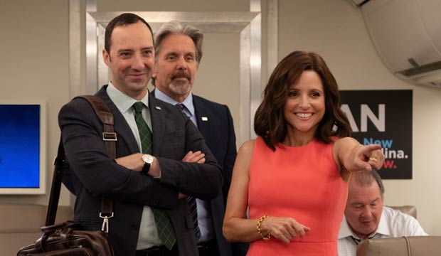 Julia Louis Dreyfus and Tony Hale in Veep