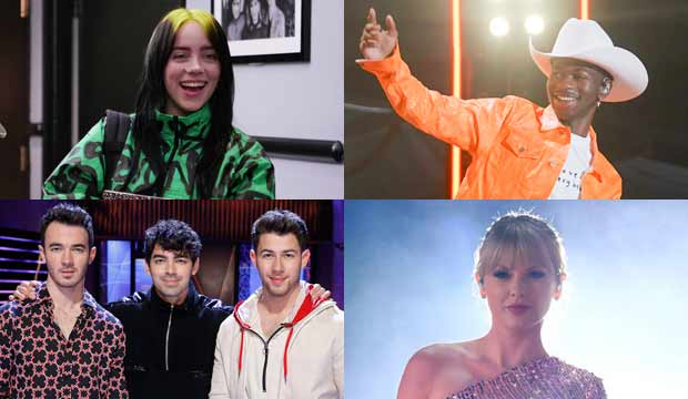 Billie Eilish, Lil Nas X, Jonas Brothers and Taylor Swift