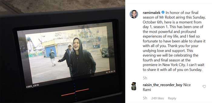 rami malek instagram mr robot