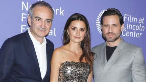 Olivier Assayas, Penelope Cruz and Edgar Ramirez at Wasp Network premiere at NYFF
