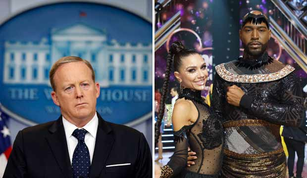 Sean Spicer and Karamo Brown