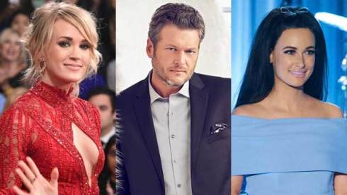 Carrie Underwood, Blake Shelton and Kacey Musgraves