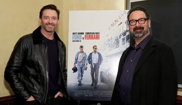 Hugh Jackman and James Mangold at Ford v Ferrari screening