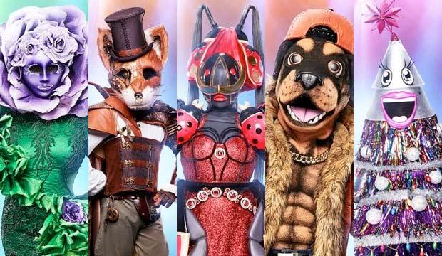 the-masked-singer-flower-fox-ladybug-rottweiler-tree