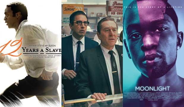 12 Years a Slave, The Irishman, Moonlight