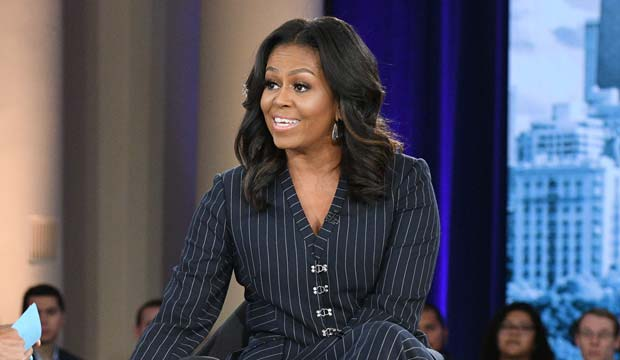 First family at the Grammys: Former FLOTUS Michelle Obama may win Best Spoken Word Album, just like Barack did