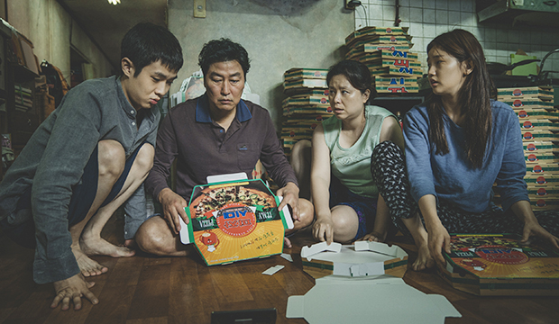 Choi Woo-sik, Song Kang-ho, Jang Hye-jin and Park So-dam, Parasite