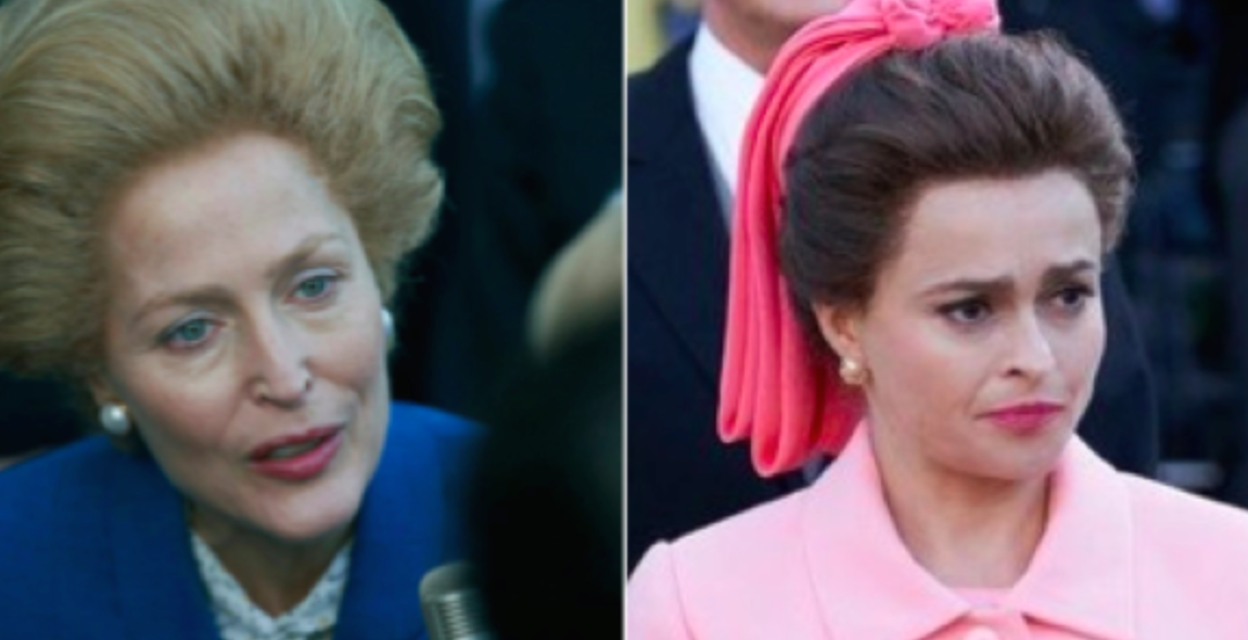 'The Crown' scene stealers Gillian Anderson and Helena Bonham Carter will be rival Golden Globes nominees
