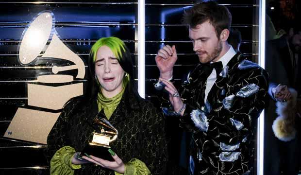 Billie Eilish at Grammys 2020