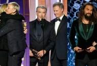 Kate McKinnon, Ellen DeGeneres, Pierce Brosnan, Will Ferrell, Jason Momoa at Golden Globes 2020
