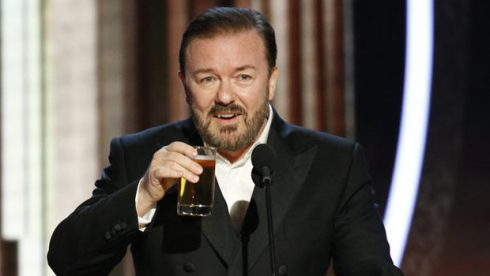 Ricky Gervais at Golden Globes 2020