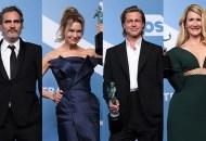 Joaquin Phoenix; Renee Zellweger; Brad Pitt; Laura Dern, SAG Awards