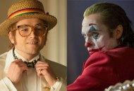 Taron Egerton in Rocketman, Joaquin Phoenix in Joker